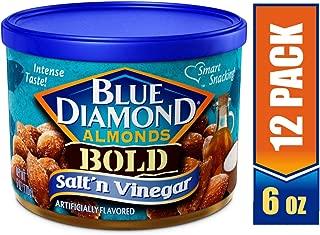 Blue Diamond Almonds, Bold Salt & Vinegar, 6 Ounce (Pack of 12)