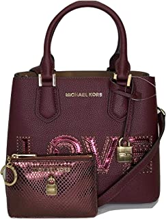MICHAEL Michael Kors Adele MD Messenger Crossbody bundled with Michael Kors Adele Small TZ Coinpouch with ID Wallet