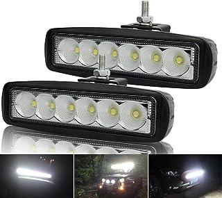Kashine 18W Arbeitslicht LED Zusatzscheinwerfer Auto Offroad Flutlicht Bar für KFZ Traktor Arbeitsscheinwerfer Scheinwerfer 6000K IP67 Wasserdicht (2 Stück)