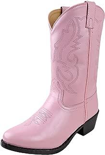 Youth Girls Denver Pink Leather Western 7 D