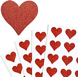 mini red heart stickers