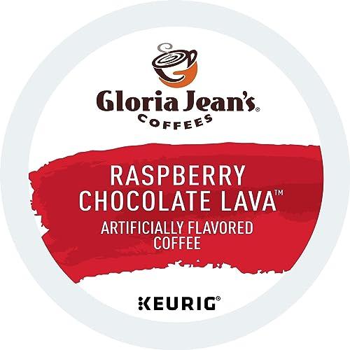Gloria Jean's Coffees Raspberry Chocolate Lava, Single-Serve Keurig K-Cup Pods, Flavored Medium Roast Coffee, 72 Count