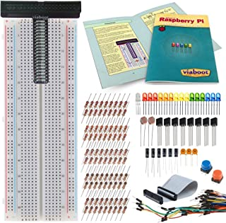 Raspberry Pi Deluxe Breakout Kit for A+, B+ and Models 2 & 3 B — Includes Breadboard, GPIO Breakout, Projects Guide, 100+ Components and Heat Sinks