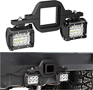 Nilight 2 PCS 4 Inch 60W Led Pods with 2.5 Inch Tow Hitch Mounting Brackets LED Backup Reverse Lights Rear Search Lighting...