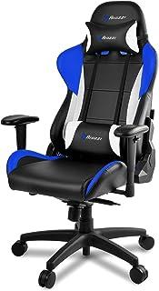 Arozzi - Verona Pro V2 sedia da Gaming, Nero Blu, 50 x 55 x 130, finta pelle, inclinazione regolabile;rotelle