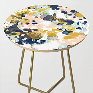 Sloane - Abstract Painting in Modern Fresh Colors Navy, Mint, Blush, Cream, White, and Gold by Char