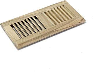 WELLAND 4-inch by 12-inch Drop in Register, Hickory Hardwood Vent Floor Register Self Rimming Unfinished