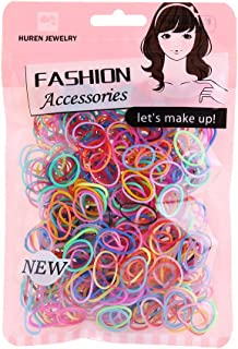 Multi Candy Color Baby Girl's Kids Hair Holder Hair Ties Elastic Rubber Bands, 1000pcs