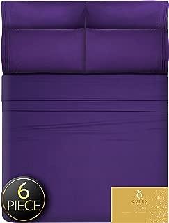 6 Piece Deep Pocket Full Size Sheets Full Sheets - Full Bed Sheets Full Sheet Set Full Size Bed Sheets Full Size Bedding Sets Full Size Sheet Sets Full Bed Sheet Set Full Size Fitted Sheet Purple