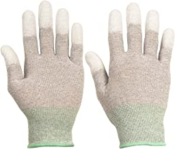 ThxToms ESD Anti Static Gloves, High Resistance Carbon Fiber Protects Your Computer Safe, Small 1 Pair