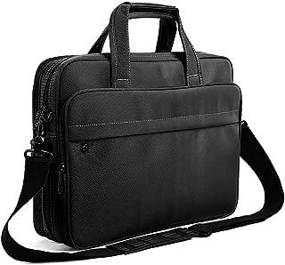Laptop Briefcase 15.6 Inch Business Office Bag Laptop Bag for Men Women, Expandable Waterproof Stylish Nylon Multi-functional Laptop Shoulder Messenger Bag Computer Bag fit for Notebok Macbook Hp Dell