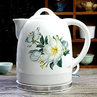 lkpqdwqz Bouilloire électrique sans fil en céramique rétro pour thé, thé rapide, soupe à café, avoine, base amovible, prot...