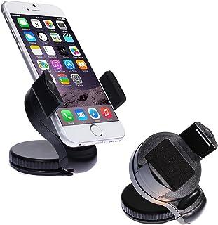 wortek Universal KFZ Halterung bis ca. 5,7' Displays für Apple iPhone 7 / iPhone 6S / 6S Plus / 6 / 5 / 5S, Samsung Galaxy S8 / S8 Plus / S7 / S7 Edge / S6 / S6 Edge / S6 Edge + / S5 / A3 A5 A7 J3 J5 J7 (2015/2016/2017), Huawei P8 / P9 / P10, Honor 5X