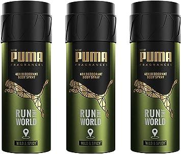 PUMA Fragrances - Déodorant Homme Body Spray 48h Run the World ...