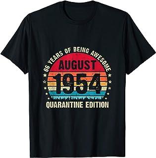 66 Year Old Birthday Vintage August 1954 Quarantine Edition T-Shirt