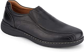 Dockers Mens Mosley Leather Dress Casual Slip-On Shoe, Black Tumbled, 10 M
