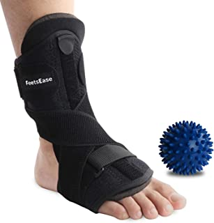 Plantar Fasciitis Night Splint and Support for Relief - Adjustable Dorsal Night Splint Foot Brace for Achilles Tendonitis Foot Stretch for Men & Women [1 Pack]