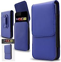 IWIO enganche magnético cinturón bolsa de piel sintética con tapa Skin Cover, piel sintética, azul, Huawei G8