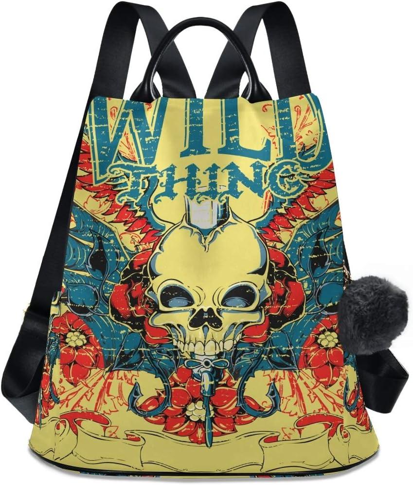 Wild King Ultra-Cheap Deals Skull Special sale item Shoulder Backpack Student Travel Boo Bag Daypack