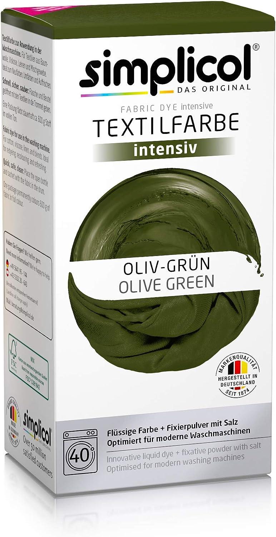 Simplicol Kit de Tinte Textile Dye Intensive Verde ...