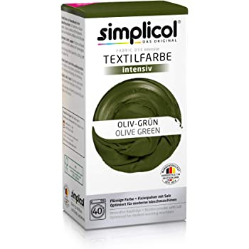 Simplicol Textil Color Intensivo (18 Colores), Terciopelo Negro ...