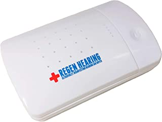 Regen Hearing Aid Dryer UV-C Disinfection Dry Box and Dehumidifier Cleaner and Storage Case - Kills Bacteria - Stops Itchy Ears