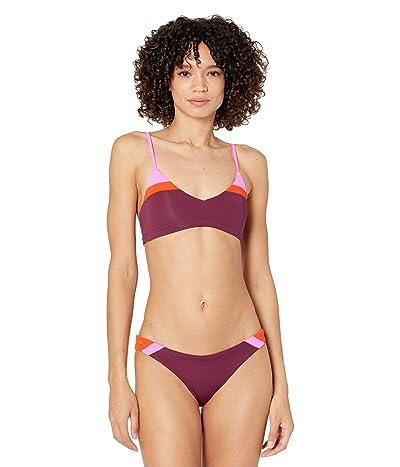 Maaji Vintage Grape Rocks Reversible Bikini Top Women