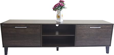 AFT Dark Prime TV Cabinet, Dark Brown, AFT2184TVBA