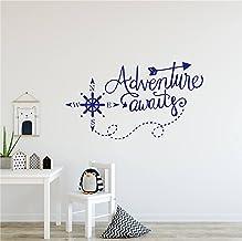 Home Decor Adventure Awaits Wall Decals Nautical Compass Nursery Boys Room Wall Stickers Art Home Decorations Kids Room St...