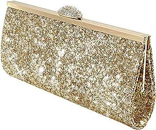 Amazon.co.uk: Gold - Clutches / Women's Handbags: