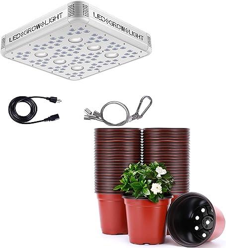 lowest VIVOSUN high quality 1200W Cree outlet sale COB Led Grow Light with 4 Inch Planter Nursery Pots online