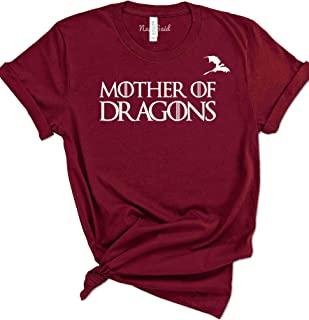 NuffSaid Mother of Dragons GoT Thrones T-Shirt with Dragon Logo - Unisex Tee