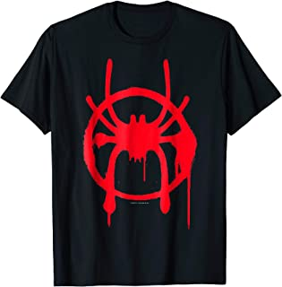 Spider-Man Spiderverse Miles Symbol Tag T-Shirt