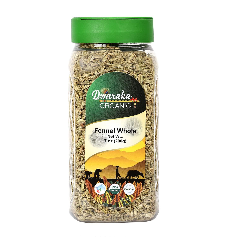 Dwaraka Organic - Free shipping New Fennel Seeds Healthy Non 7oz GMO Houston Mall