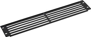 KENUCO Blank Rack Mount Panel Spacer with Venting for 19-Inch Server Network Rack Enclosure - Black (B-2U)