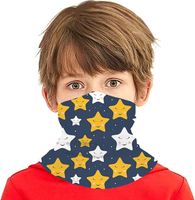 Cute starfish pattern Ranking TOP4 Kids Max 53% OFF Neck Gaiter Washable Mask Bandan Face