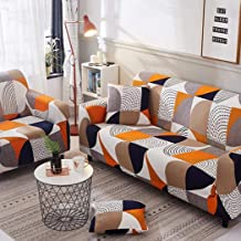Sofa Cover for 1/2/3/4 Seater with Various Printed and Size 3 Seater Sofa Cover 2 Seater Couch Stretch Armless Sofa Slipco...