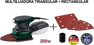 LIJADORA 2 EN 1 TRIANGULAR Y ORBITAL RECTANGULAR 200W DELTA