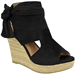 c142d7fd340 Fashion Thirsty Womens High Heel Wedge Summer Sandals - Casual ...