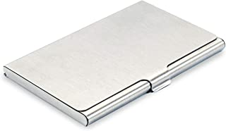 DAHSHA Steel Business Card Case Holder for Men and Women (Silver)