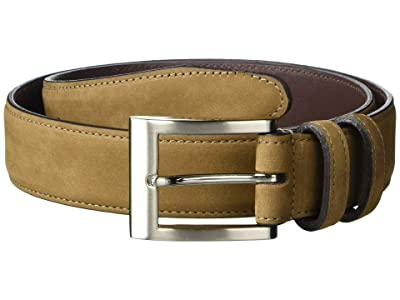 Allen Edmonds Wide Basic Dress Belt (Tan Nubuck) Men