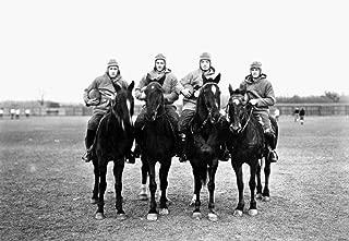 Football Four Horsemen NThe Four Horsemen The Notre Dame Backfield Of 1924 On Horseback Don Miller Elmer Layden Sleepy Crowley And Harry Stuhldreher Poster Print by (18 x 24)