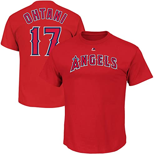 378082cd2 Outerstuff Shohei Ohtani Los Angeles Angels Youth Majestic Red Player Name    Number T-Shirt