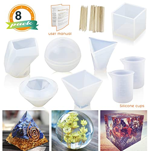 Clear Silicone Resin Dice Mold Crafts Game Gamer di single Mold Crafting DIY