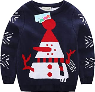 84b215f7c8841 ELSA   ANNA® Unisexe Garçon Filles Christmas Sauteur Cavalier de Noël Pull  de Noël Xmas