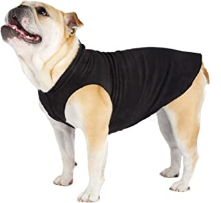Gold Paw Stretch Fleece Dog Coat – Soft, Warm Dog Clothes, Stretchy Pet Sweater – Machine Washable, Eco Friendly – All Season – Sizes 2-33, Black, Size 14