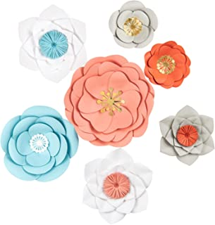 Best giant paper flowers wall decor Reviews