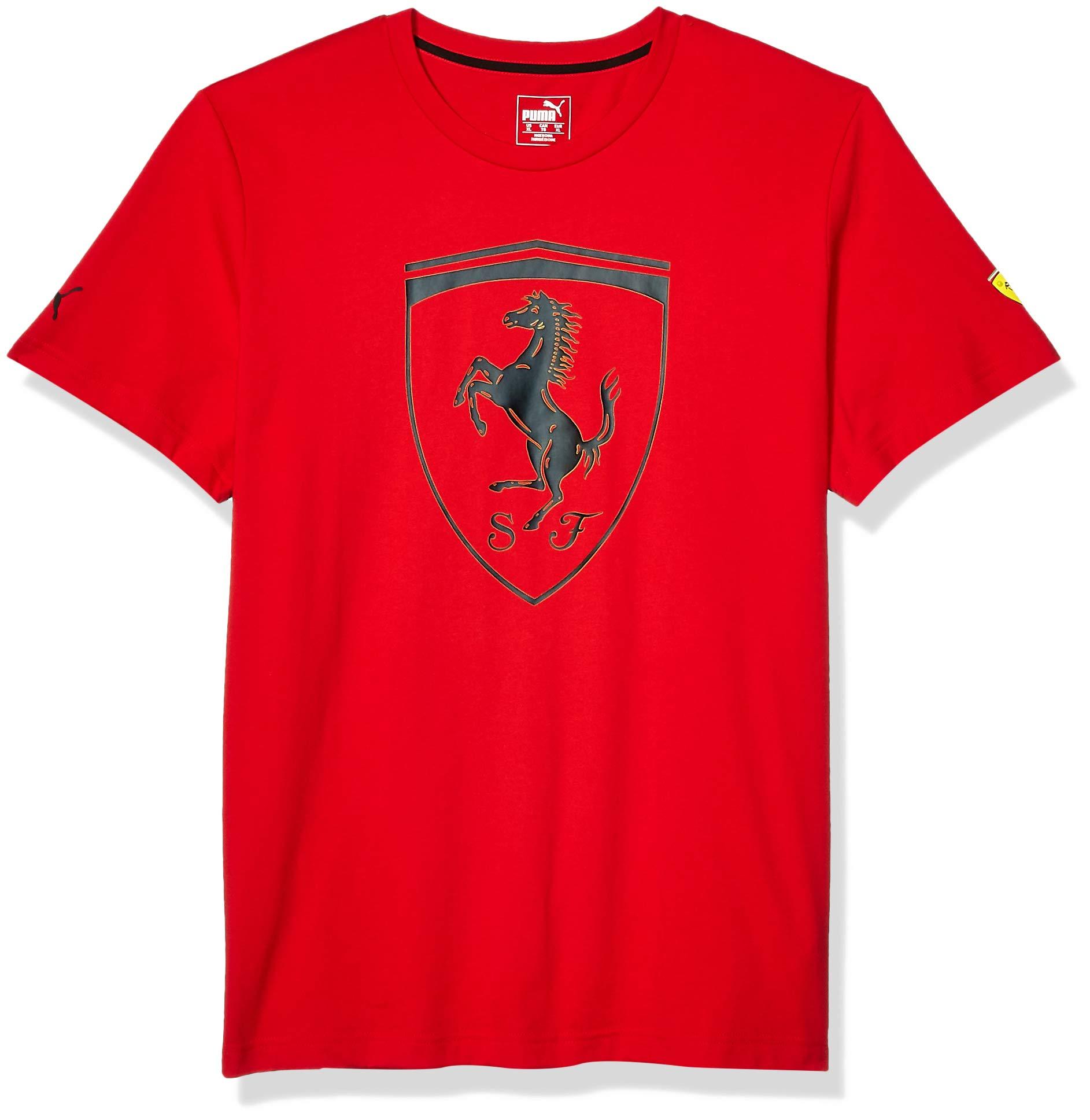 PUMA Mens Scuderia Ferrari Big Shield Tee