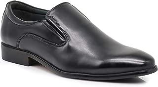 Enzo Romeo LK02 Men Dress Loafers Elastic Slip on Formal Round Toe Business Designer Shoes