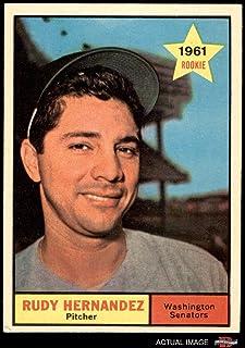 1961 Topps # 229 Rudy Hernandez Washington Senators (Baseball Card) Dean`s Cards 6 - EX/MT Senators